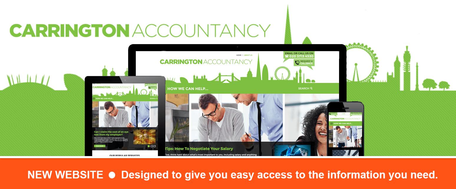 Carrington Accountancy New Website