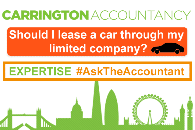 Should I lease a car through my limited company? #AskTheAccountant