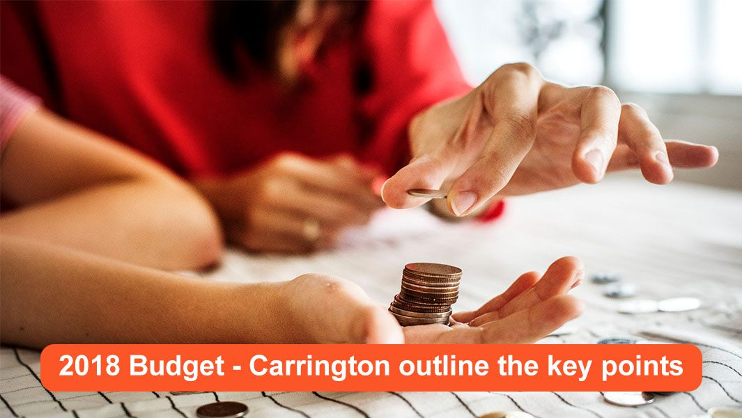 The Budget 2018 - Carrington outline the key points outline