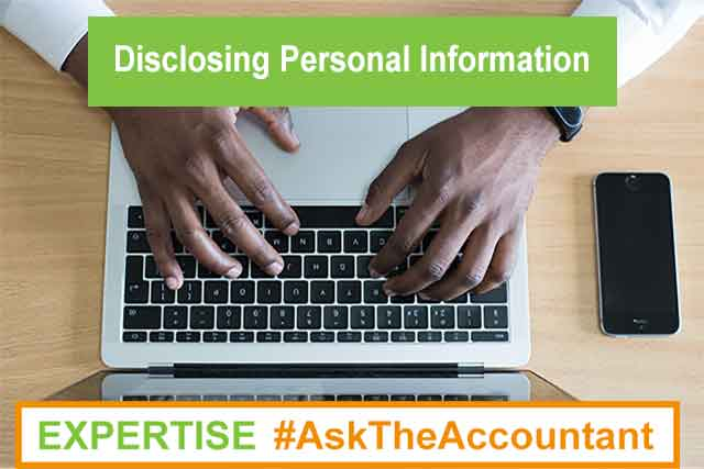 Is there any option to not disclose company or personal information relating to myself and my company online? #AskTheAccountant