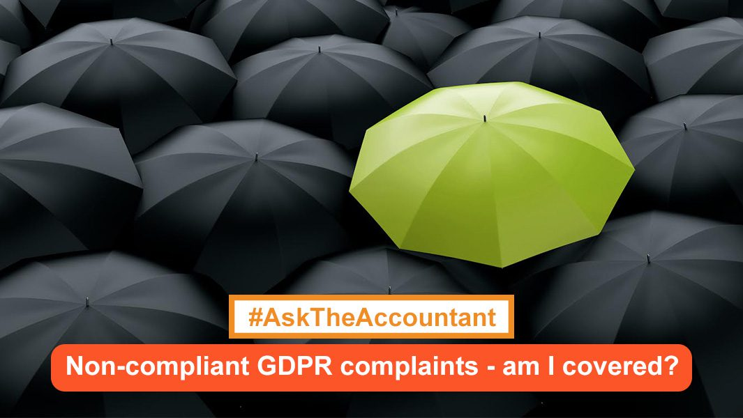 Does my insurance cover me for noncompliant GDPR claims in the future? #AskTheAccountant