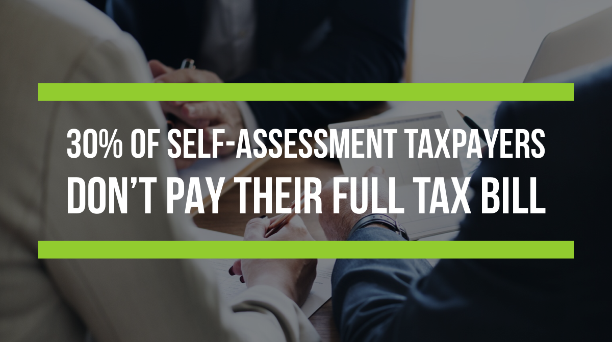 30% of self-assessment taxpayers don't pay their full tax bill